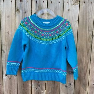 Hanna Andersson Girls Fairy Tale Nordic Sweater 2T